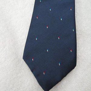 Oscar de la Renta Couture Tie Striped Necktie Blue